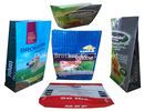 Sugar / Salt Pp Woven Fabric Bags , Bopp Laminated Recycled Woven Polypropylene Bags