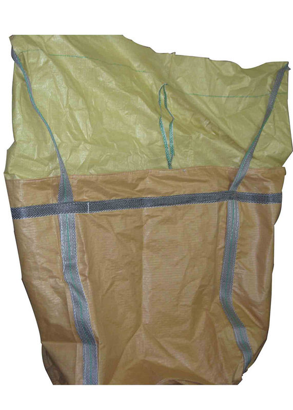 U Panel Industrial PP FIBC Jumbo Bags customized With Cross Corner Loops