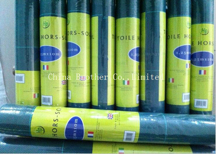 UV Protection Garden Weed Control Fabric , Landscape Weed Control Fabric